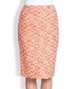 Lafayette 148 New York Printed Pencil Skirt - Lyst