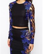 Forever Unique Crop Top in Animal Print - Lyst