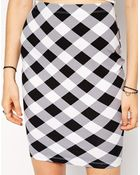 Asos Pencil Skirt In Gingham - Lyst