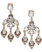 Oscar de la Renta Jeweled Chandelier Clip-On Earrings - Lyst