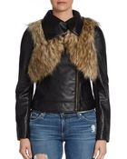 Twelfth Street Cynthia Vincent Faux Leather Moto Jacket - Lyst