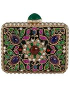 Judith Leiber Couture Jeweled Cabochon Rectangle Clutch Bag - Lyst