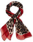Valentino Silk Leopard Print Scarf - Lyst