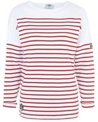Topshop Red Breton Stripe Tee By Armor Lux - Lyst