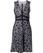 Schumacher Floral Print Net Dress - Lyst