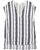 3.1 Phillip Lim Silk Stripe Tunic Top - Lyst