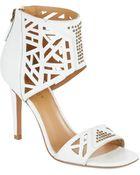 Nine West Karabee Stiletto Leather Sandals - Lyst