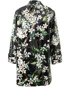 Dolce & Gabbana Floral-Print Coated Cotton Raincoat - Lyst