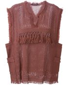 Isabel Marant Fringed Top - Lyst