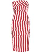 Dolce & Gabbana Strapless Stretch Silk Dress - Lyst