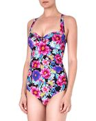 Seafolly Paradiso Soft-cup Swimsuit - Lyst