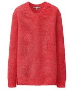 Uniqlo Middle Gauge Crew Neck Sweater - Lyst