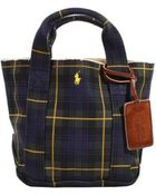 Polo Ralph Lauren Handbag Tote Small Washed Canvas Tartan Print - Lyst