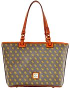 Dooney & Bourke Signature Small Leisure Shopper - Lyst