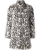 Haute Hippie Leopard Bunny Coat - Lyst