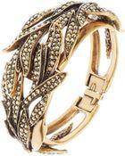 Oscar de la Renta Swarovski Crystal Cuff Bracelet - Lyst