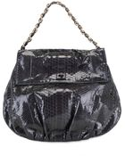 Zagliani Shiny Python Ninette Large Shoulder Bag - Lyst