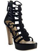 Giuseppe Zanotti Black Suede Gladiator Platform Sandals - Lyst