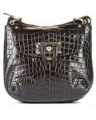 DKNY Crocodile Leather Shoulder Bag - Lyst