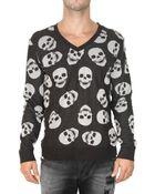 Philipp Plein Skull Knit Sweater - Lyst