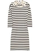 Sonia by Sonia Rykiel Polka-dot Collar Striped Cotton Dress - Lyst