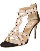 Valentino Studded T-strap Sandal - Lyst
