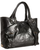 Kooba Black Leather Olive Foldover Flap Shoulder Bag - Lyst