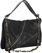 Kooba Black Leather Halle Asymmetrical Zipper Shoulder Bag - Lyst