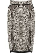 Zac Posen Ocelot Tweed Pencil Skirt - Lyst