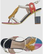 Emporio Armani High-heeled Sandals - Lyst