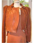 Carven Leather Double Zip Jacket - Lyst