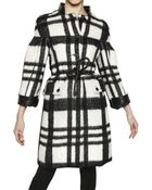 Burberry Prorsum Checked Twill Wool Mohair Alpaca Coat - Lyst