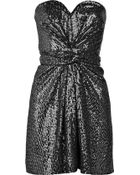 Issa Strapless Sequined Silk Dress - Lyst