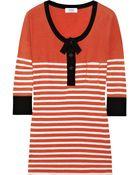 Sonia By Sonia Rykiel Striped Cotton T-shirt - Lyst
