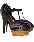 Marni Multi-strap Suede Sandals - Lyst