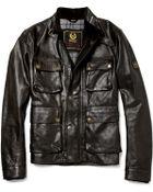 Belstaff Brad Distressed Leather Jacket - Lyst