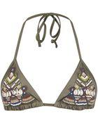 AllSaints Zingtac Bikini Top - Lyst