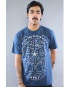 Obey The Til The Bitter End Basic Tee in Patrol Blue - Lyst