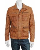 Michael Kors Leather Utility Jacket - Lyst