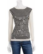 Gryphon Sequin Stripe Sweater - Lyst