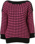 Topshop Knitted Patterned Jumper - Lyst