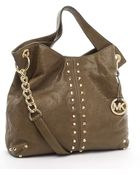 Michael Kors Uptown Astor Large Shoulder Tote, Walnut - Lyst