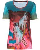 Matthew Williamson Wolf Print T-shirt - Lyst