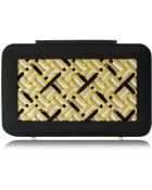 Poupee Couture Woven Metal and Leather Box Clutch - Lyst