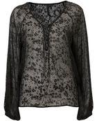Topshop Tie Blouse By Boutique - Lyst