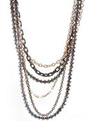 Bita Pourtavoosi Chain and Pearl Necklace - Lyst