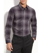 Calibrate Plaid Trim Fit Sport Shirt - Lyst