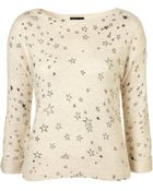 Topshop Knitted Star Print Jumper - Lyst