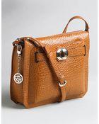 DKNY Leather Zip-top Shoulder Bag - Lyst
