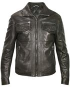Forzieri Men'S Black Genuine Leather Motorcycle Jacket - Lyst